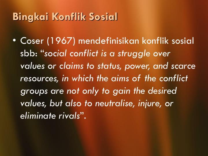 Bingkai Konflik Sosial