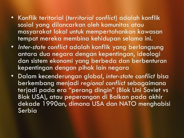 Konflik teritorial (