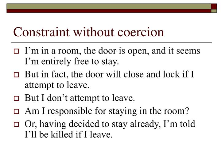 Constraint without coercion