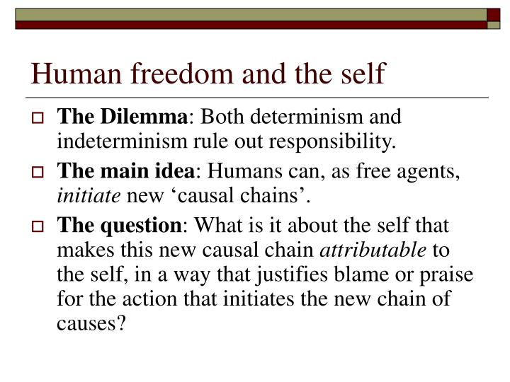 Human freedom and the self