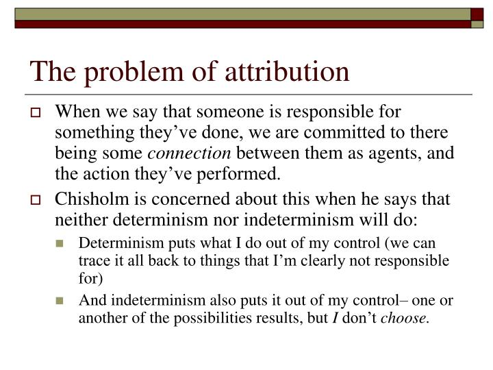 The problem of attribution