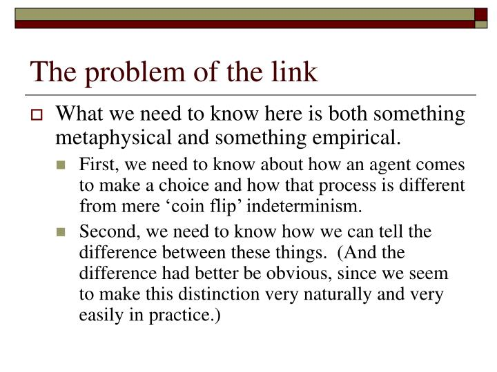 The problem of the link