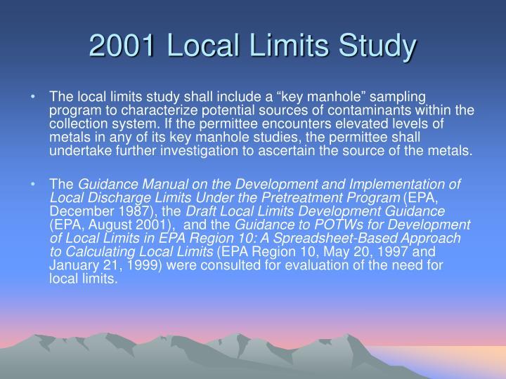2001 Local Limits Study