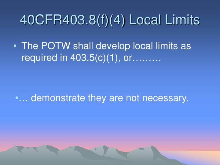 40cfr403 8 f 4 local limits