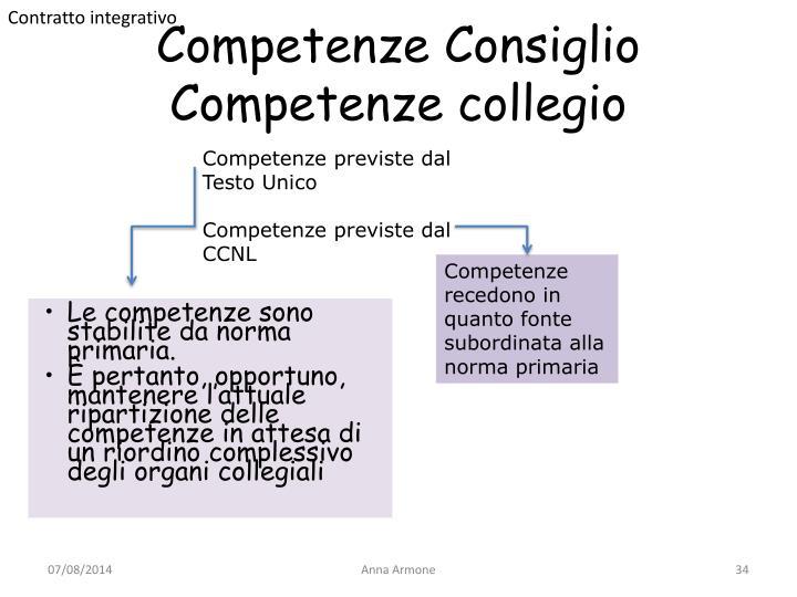 Competenze Consiglio
