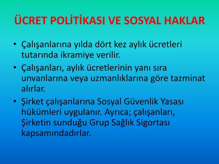 ÜCRET POLİTİKASI VE SOSYAL HAKLAR