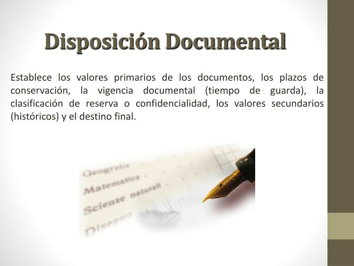 Disposición Documental
