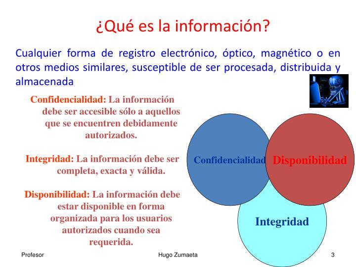 Qu es la informaci n