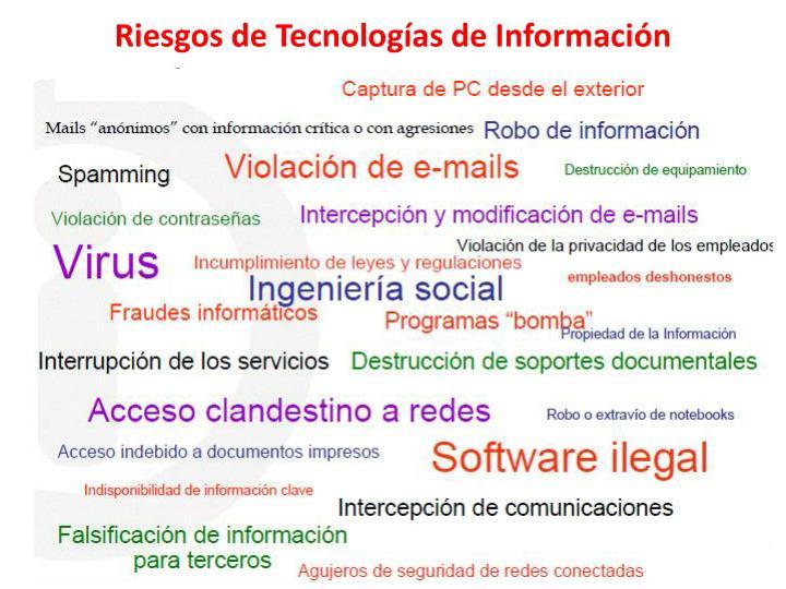 Riesgos de Tecnologías de Información