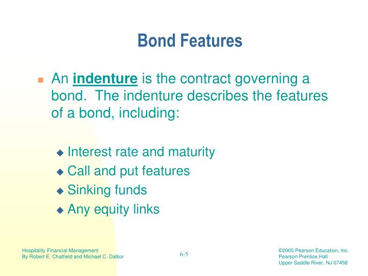 Bond Features