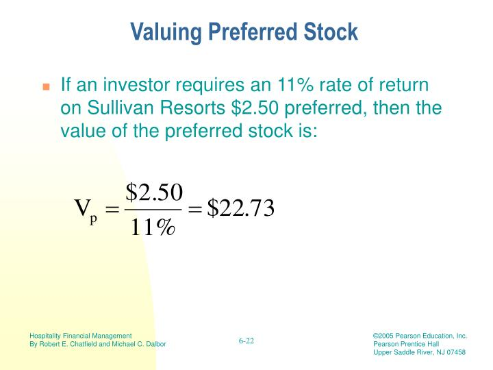 Valuing Preferred Stock