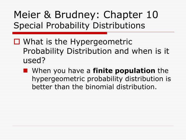 Meier & Brudney: Chapter 10