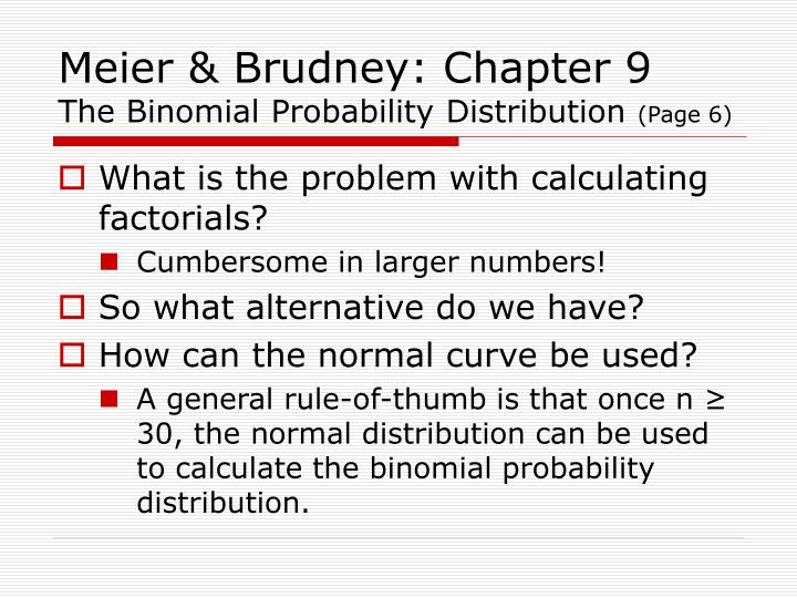 Meier & Brudney: Chapter 9