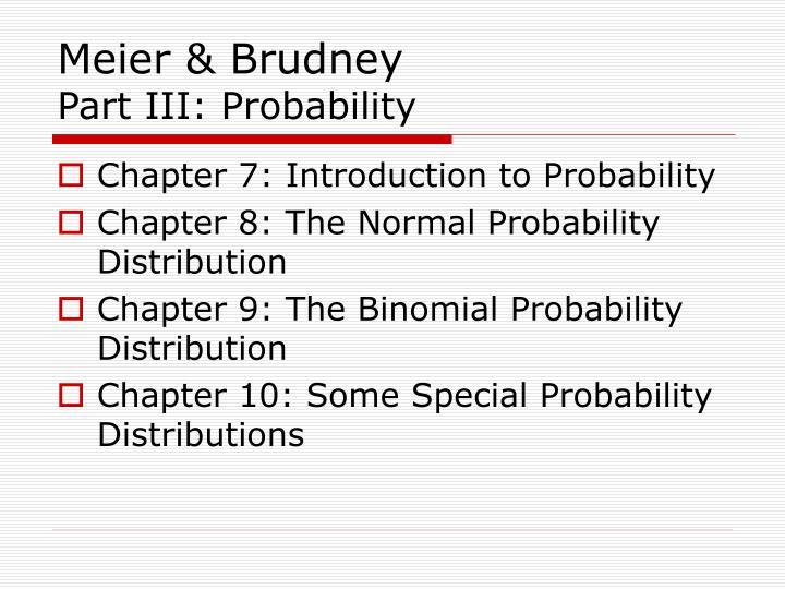 Meier brudney part iii probability