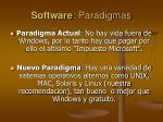 software paradigmas