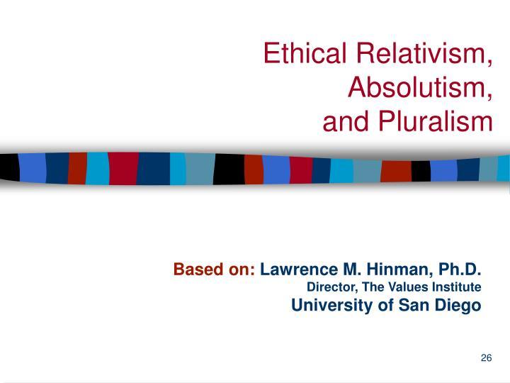 Ethical Relativism,