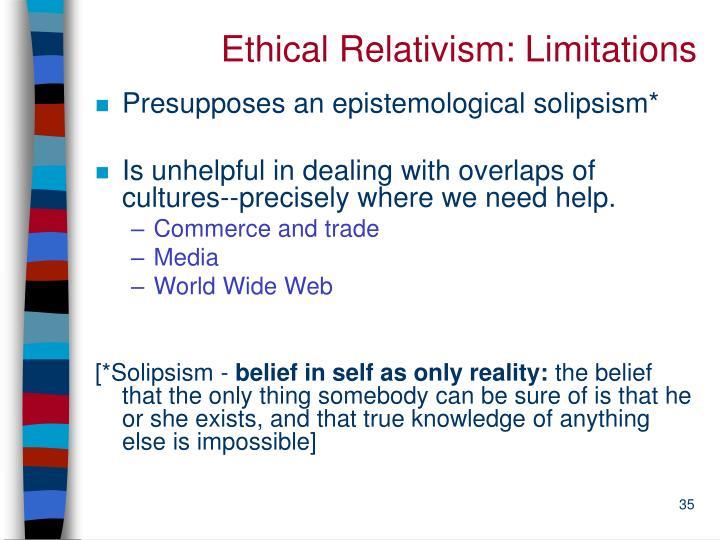Ethical Relativism: Limitations