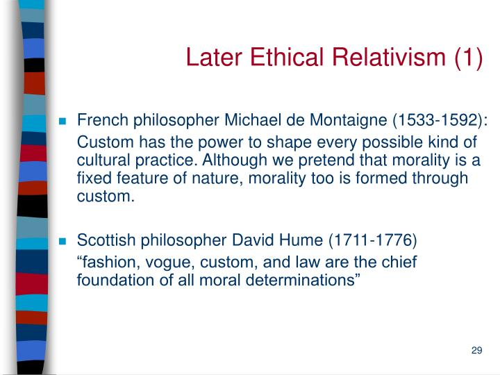 Later Ethical Relativism (1)