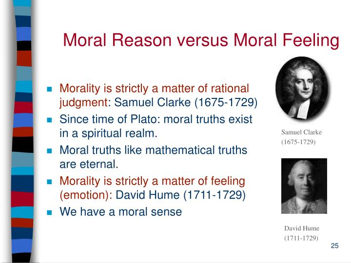 Moral Reason versus Moral Feeling