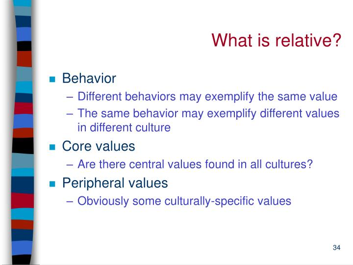 What is relative?