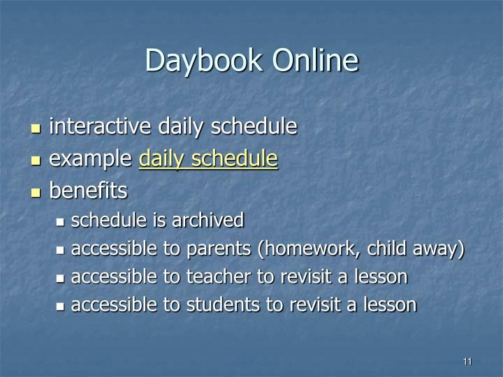 Daybook Online