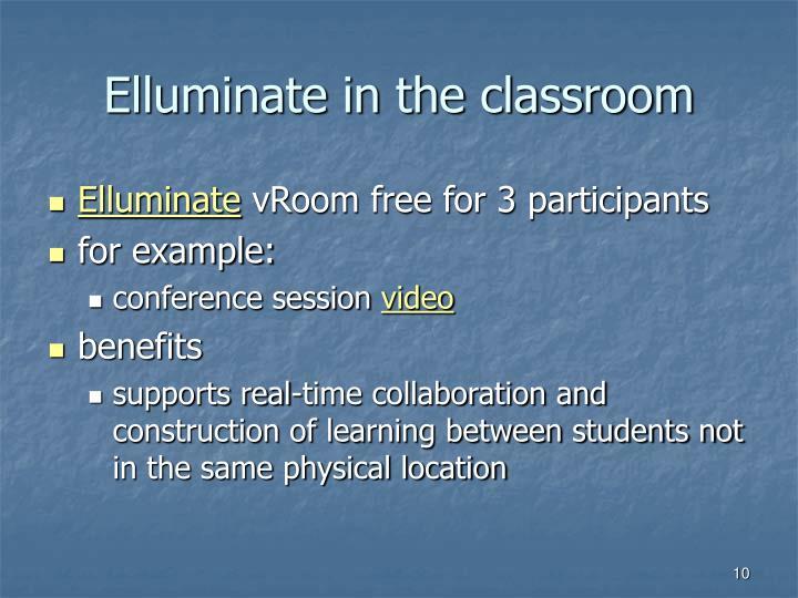 Elluminate in the classroom