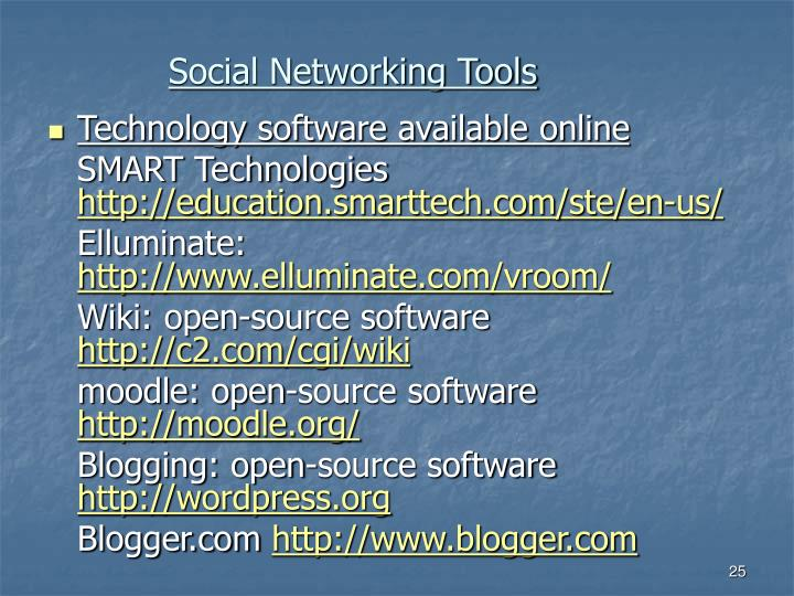 Social Networking Tools