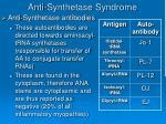 anti synthetase syndrome