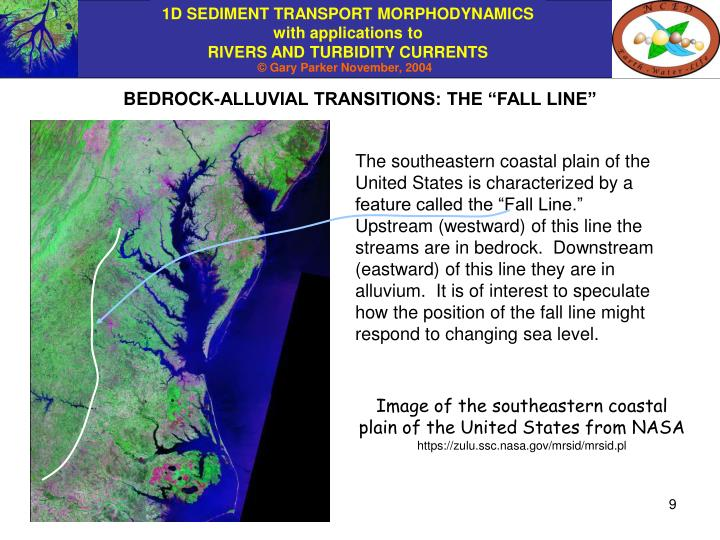 """BEDROCK-ALLUVIAL TRANSITIONS: THE """"FALL LINE"""""""