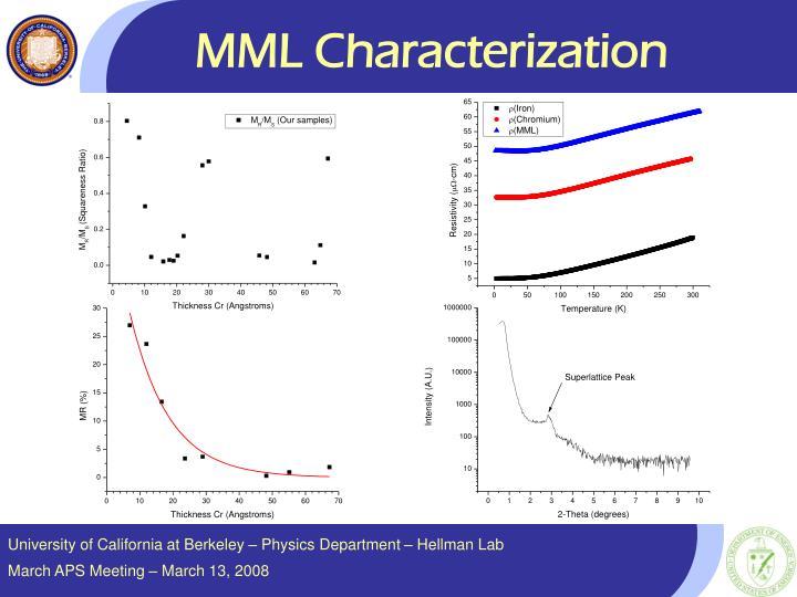 MML Characterization