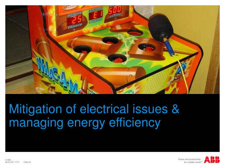 Mitigation of electrical