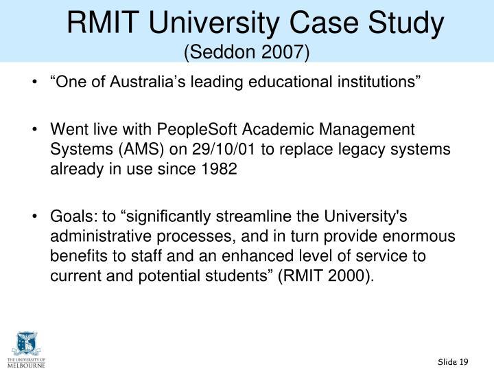 RMIT University Case Study