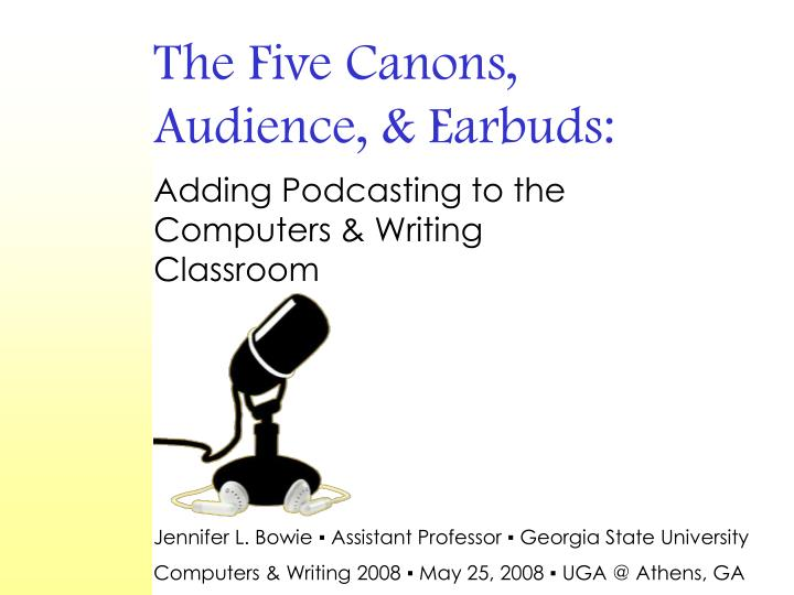 The five canons audience earbuds