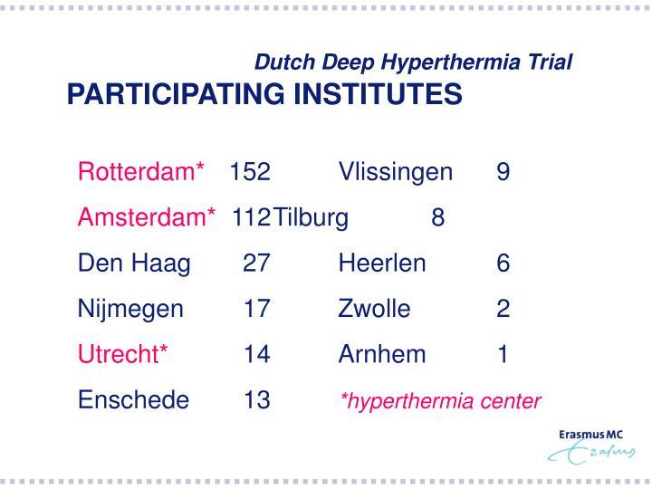 Dutch Deep Hyperthermia Trial
