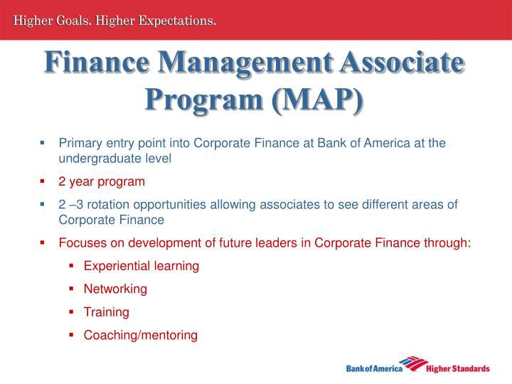 Finance Management Associate Program (MAP)