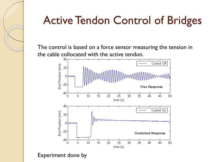 Active Tendon Control of Bridges