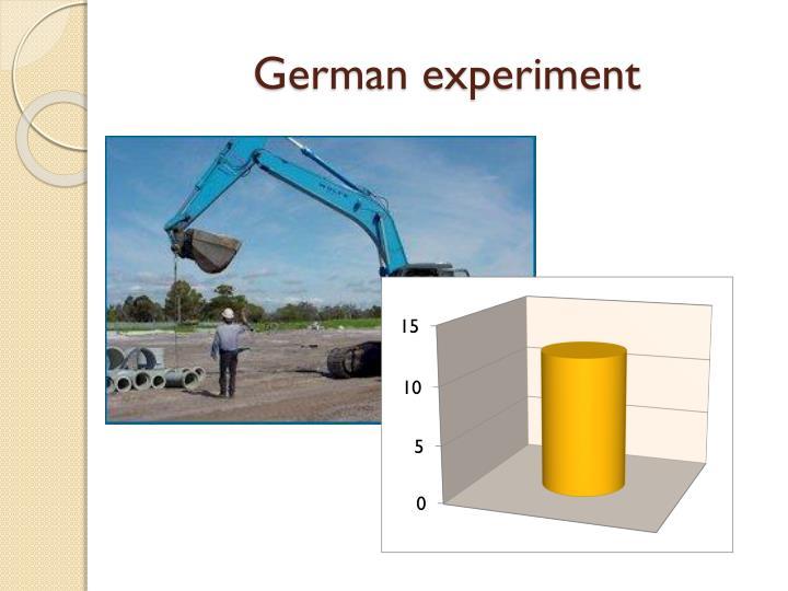 German experiment