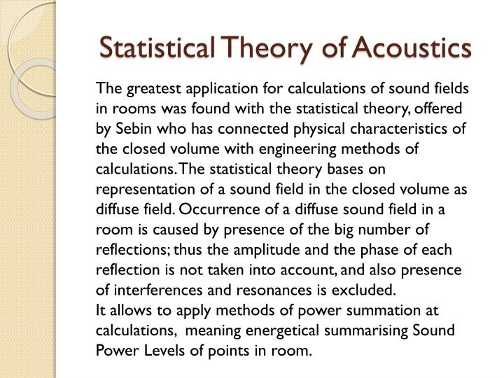 Statistical Theory of Acoustics