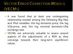 vector error correction models vecms