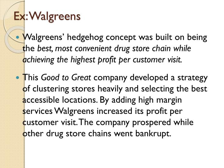 Ex: Walgreens