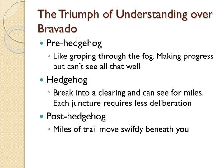 The Triumph of Understanding over Bravado
