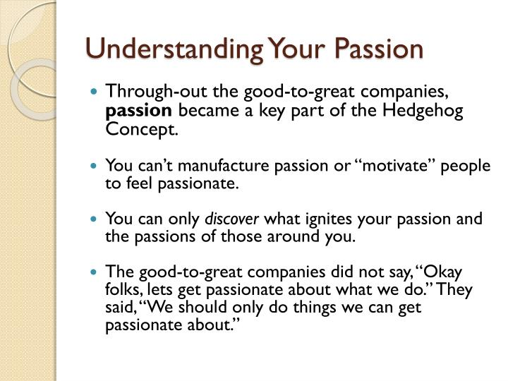 Understanding Your Passion