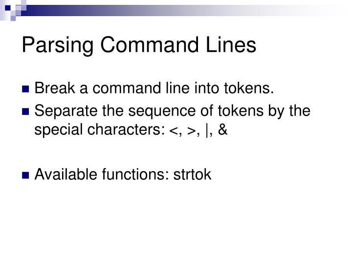 Parsing Command Lines