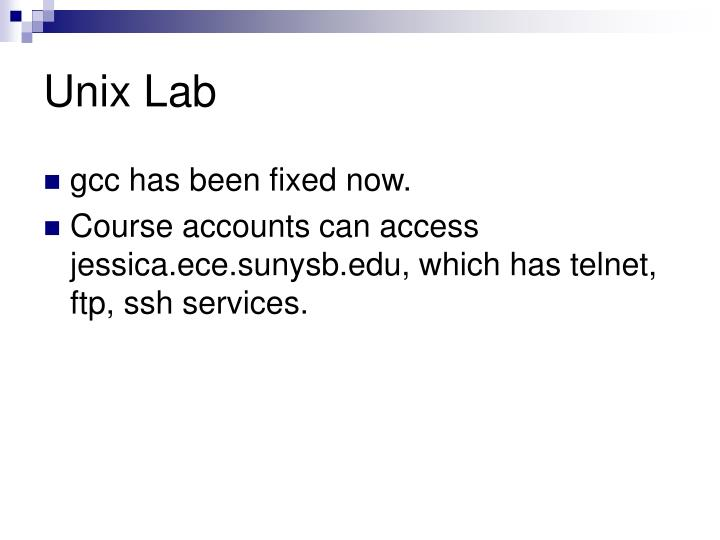 Unix Lab