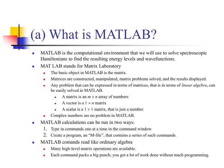 A what is matlab