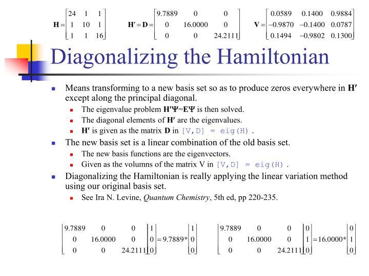 Diagonalizing the Hamiltonian