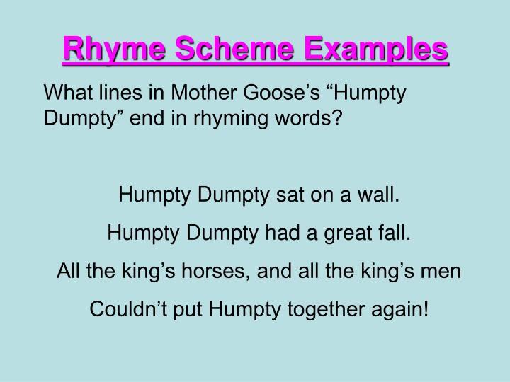 PPT - Rhyme Scheme PowerPoint Presentation - ID:2969009