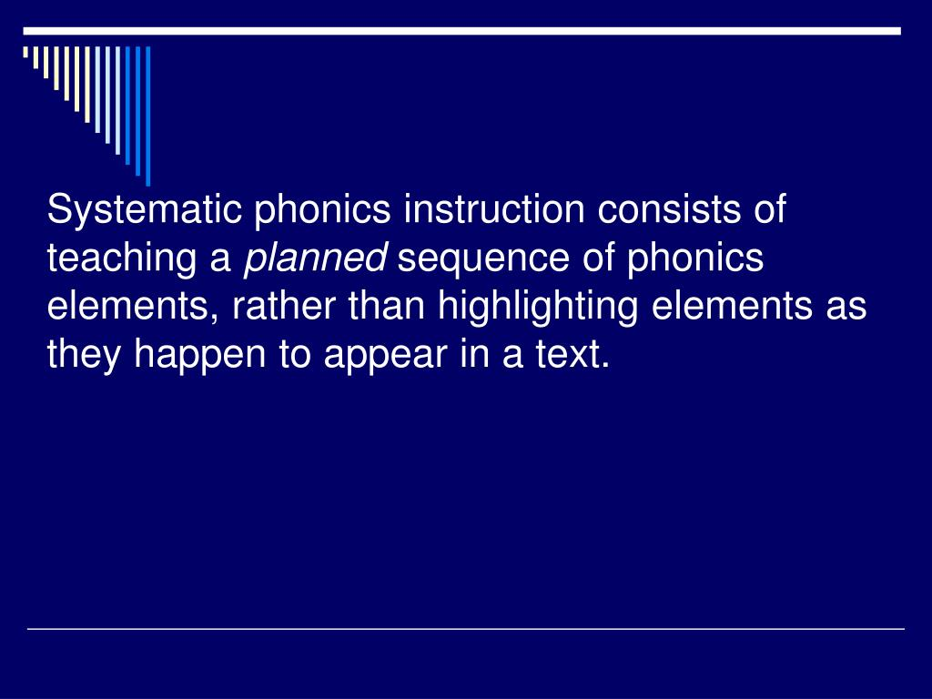 PPT - Teaching Phonics PowerPoint Presentation - ID:2969012