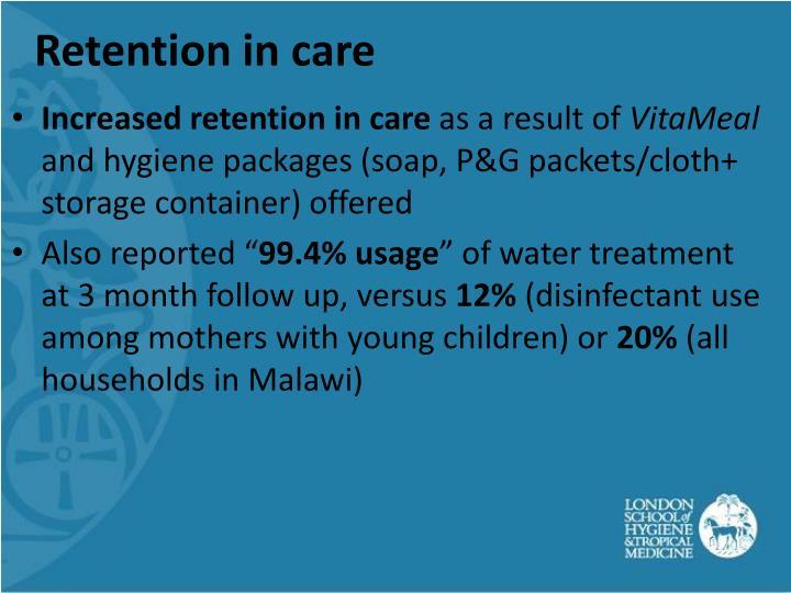 Retention in care