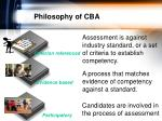 philosophy of cba